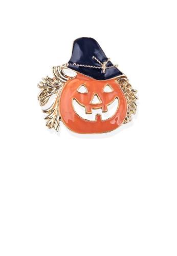 Glamorousky silver Simple and Creative Plated Gold Halloween Pumpkin Brooch 7A341AC17DEA02GS_1
