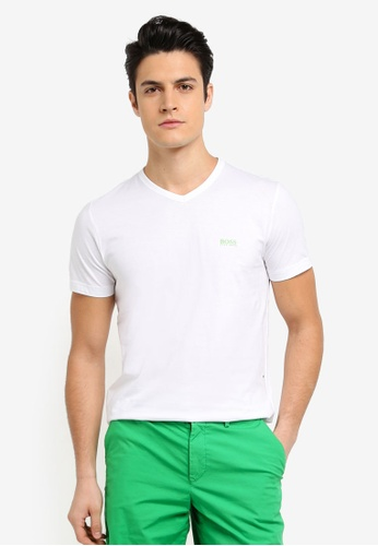 BOSS white V-Neck T-Shirt - Boss Athleisure 8EC63AA4C87852GS_1