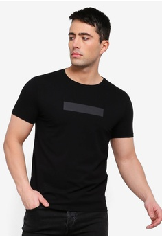 30c2c599640c3 Calvin Klein black Institutional Box Small Front Slim SS Tee - Calvin Klein  Jeans 71223AA01685C1GS 1