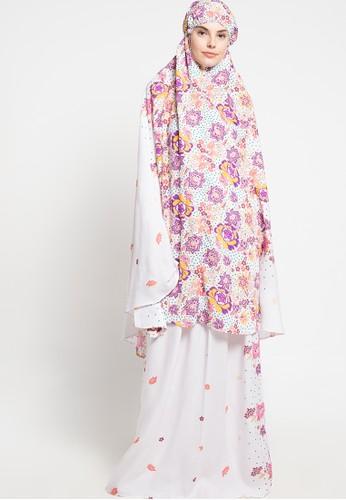 SHALIMAR white Shalimar Mukena Full Cotton Flowery SH713AA67AROID_1
