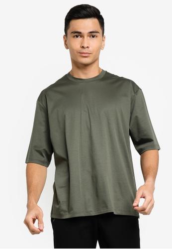ck Calvin Klein green PIMA COTTON TOP WITH RUBBER LOGO 29D10AA4BC9490GS_1