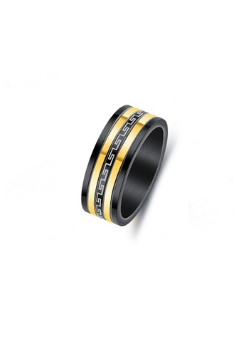 ADORA gold Stainless Steel 2Tone Ring F2670AC918E976GS_1
