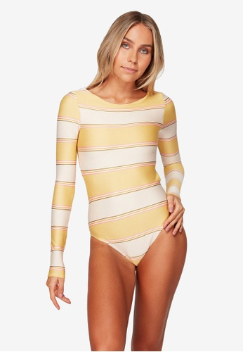 Billabong white Tanlines Stripe Bodysuit 571E3US4A7CA85GS_1