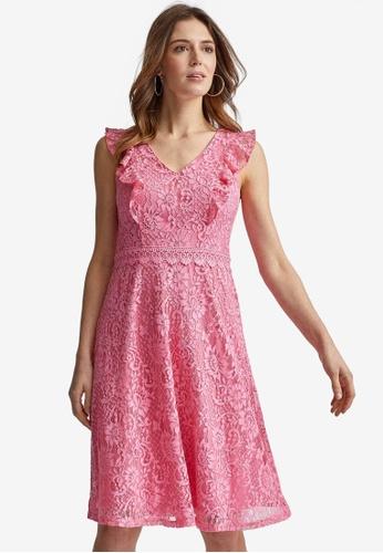 Dorothy Perkins pink Lace Taylor Dress E4CB9AAFF92F29GS_1