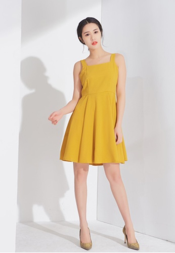 Zafiti yellow Strapped Dress 7F34EAAC689C83GS_1