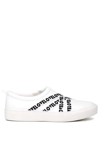 London Rag white WRAP Slip-on Sneakers SH1663 82FFDSHC73A2FBGS_1