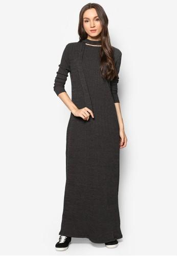羅紋直筒連身esprit part time長裙, 服飾, 洋裝
