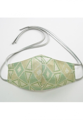 Bewa green Tie Back - Songket Mask (Lime) 92A48ES03F039BGS_1