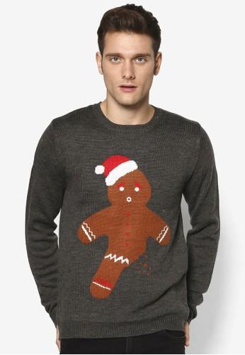 聖誕薑餅人印花長袖衫, esprit香港分店地址服飾, 服飾