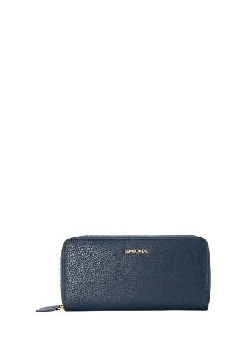 SEMBONIA blue Microfiber Trimmed Leather Accordion Wallet (Blue) 36DC0AC47EDB1BGS_1