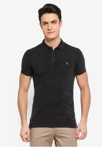 Indicode Jeans black Abbortsford Washed Polo Shirt 28AC2AA4D3AEF8GS_1