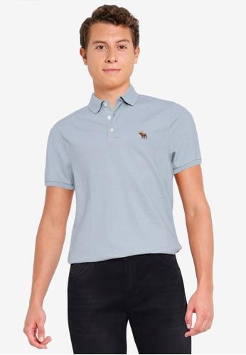 Abercrombie & Fitch blue Core Icon Polo Shirt 9982CAA37F4144GS_1