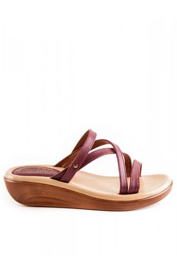 Otto red Criss Cross Sandals OT407SH0JDF6PH_1