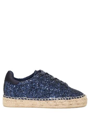 London Rag 藍色 London Rag女士系帶花邊運動鞋 SH1042 C99B4SH20EC2C5GS_1
