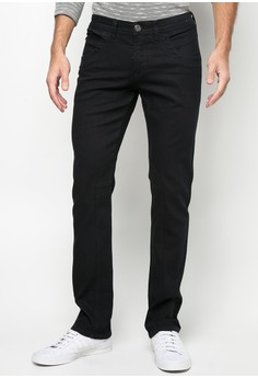 Flap Pocket Black Jeans