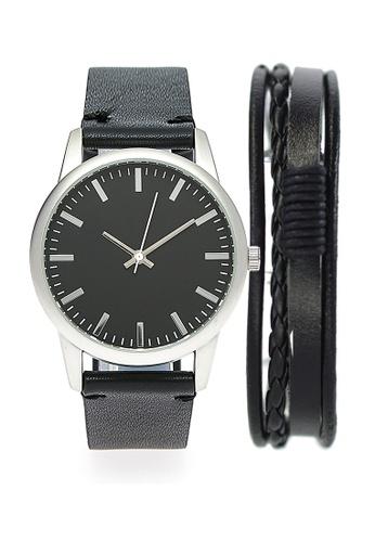 LEUPP black Ikeda Watch And Bracelet Pack F0C23ACAFC33D0GS_1
