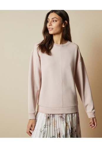 TED BAKER pink Ted Baker AUIBRY Branded sweatshirt 3AD38AA1FA3C2BGS_1