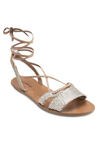Caowien 動物紋羅馬涼鞋,esprit outlet 家樂福 女鞋, 鞋