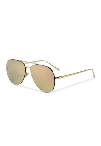 Quattrocento Eyewear Quattrocento Eyewear Italian Sunglasses with Gold Lenses Model Leone CDC4DGL51456ABGS_1