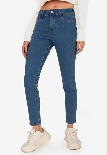 H&M blue Skinny Regular Ankle Jeans 9FA63AA1092B2BGS_1