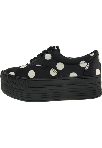 Maxstar 黑色 新款韩国鞋C50-5H-Dot時尚帆布布混合女黑色 US Women Size MA345SH19GSMTW_1