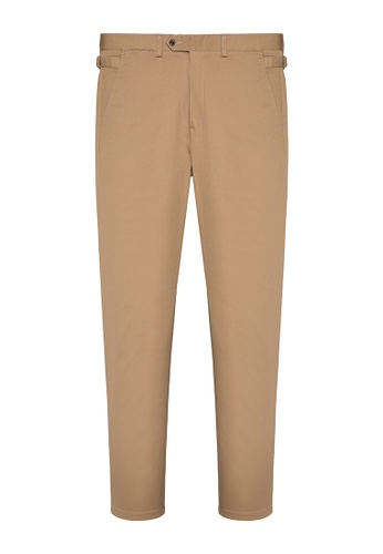 Kent and Curwen brown BROWN COTTON PANTS FC1CFAA828F3D4GS_1