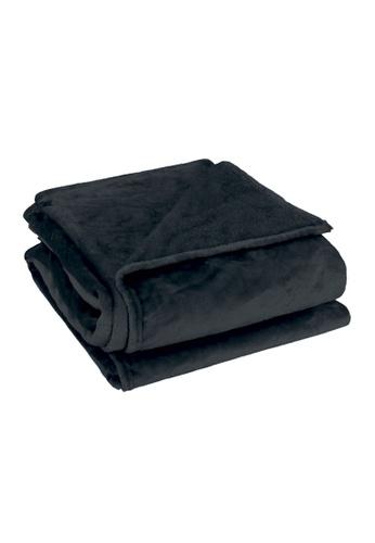 Charles Millen black Suzanne Sobelle Flannel Blanket ABC70HLA27FB42GS_1