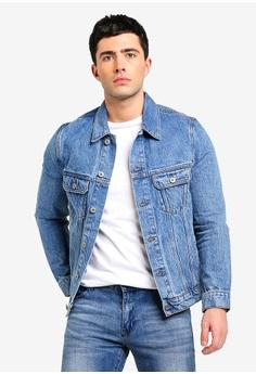 6646d0d862a4 MANGO Man blue Faded Medium Wash Denim Jacket 7EB39AA2DD0E9FGS 1