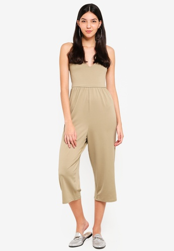 Supre green V Neck Jumpsuit 46591AA094C4C4GS_1