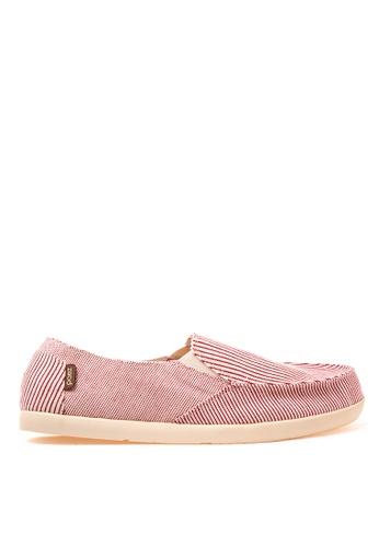 Paez pink Stripes Mens Slip Ons PA524SH40LEHPH_1