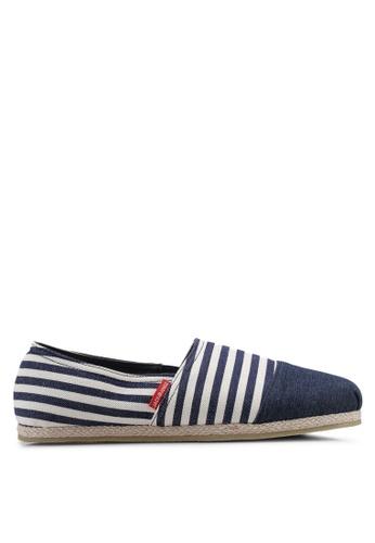 Jack & Jones navy Stripe Canvas Slip-Ons 46DA3SH4F0333CGS_1