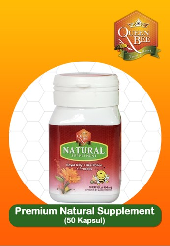 Queen Bee Forest Honey red and multi Queen Bee Premium Natural Supplement 50 caps 35458ESD8158CAGS_1