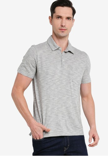 Banana Republic grey Organic Softwash Slub Short Sleeve Polo Shirt 1FC13AA0EA2D49GS_1