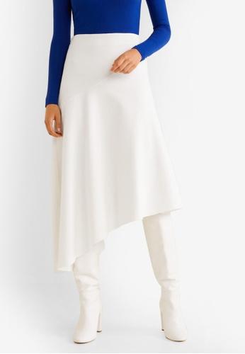 Mango white Fluted Hem Skirt FACD4AADA60F4FGS_1