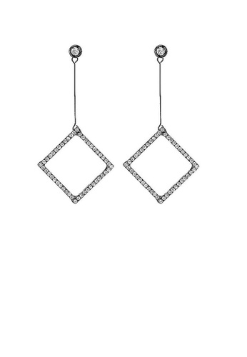 Glamorousky silver Enchanting Earrings with Silver Austrian Element Crystal 3C6E4ACDFD658AGS_1