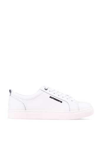 SUPERDRY 白色 Truman Leather Lace Up Sneakers 0AAC9SHDC82A9DGS_1