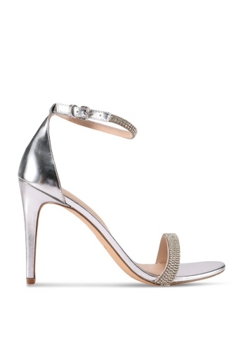 ALDO silver Aroclya Open Toe Ankle Strap Stiletto Heels 97F07SHA3F5187GS_1