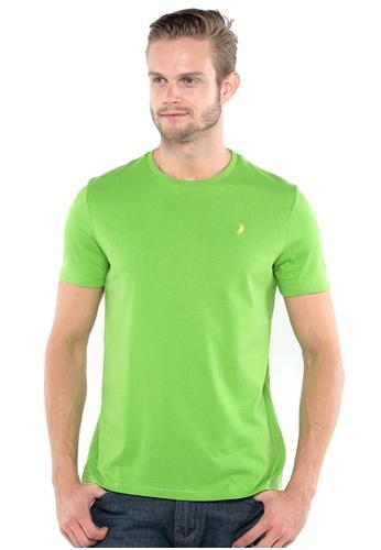 POLO HAUS green Polo Haus - Round Neck Tee (Green) PO783AA36OJZMY_1