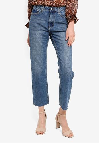 FORCAST blue Michelle High Rise Straight Jeans 50B10AA8096DA5GS_1
