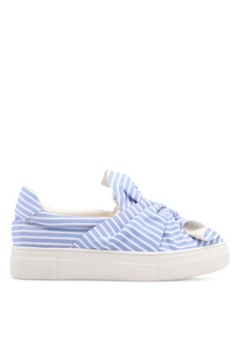 Something Borrowed blue Striped Knot Slip-ons 6ACCBSHE25C1BEGS_1
