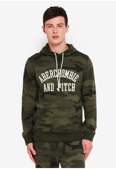 1e7a132fd0205 Abercrombie & Fitch green Core Logo Camo Popover Sweater EC0E9AA44A7620GS_1