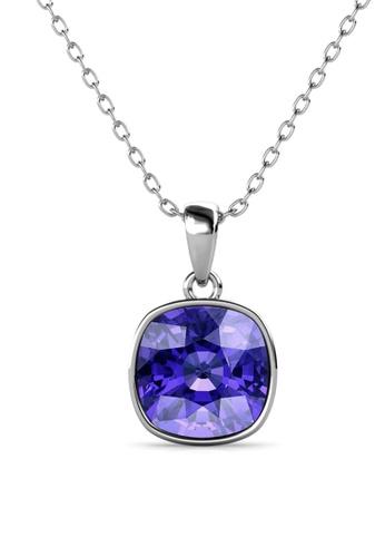 Her Jewellery purple Amethyst Pendant (Purple) - Made with premium grade crystals from Austria CF958ACFEAD0ECGS_1