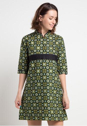 Batik Indra Loka green Long Sleeve Dress Kelir 7FAADAA7452C06GS_1