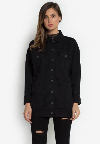 NOBASIC black Denim Jacket 00ECCAA54AB563GS_1