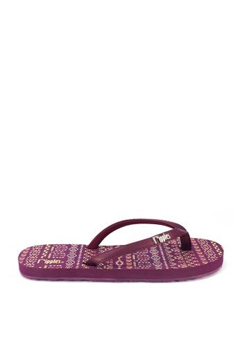 Ripples purple Arika Aztec Flip Flops 0FDAESHD6A7A84GS_1