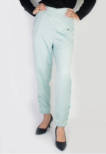 Zaryluq blue Slim Button-Down Pants in Galactica F9F81AA17CB3FBGS_1