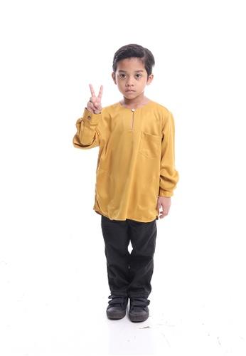 Denai Boutique yellow Kurta Razlin Junior E457DKA3E7197FGS_1