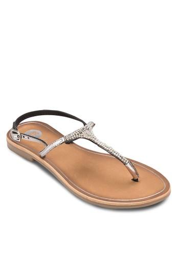 Bissey 閃鑽繞踝涼鞋, 女esprit地址鞋, 涼鞋