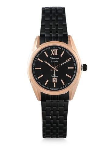 Alexandre Christie black Alexandre Christie Jam Tangan Wanita - Black Rosegold - Stainless Steel - 8501 LDBBRBA 906DDAC4832E7BGS_1