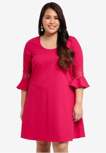 Junarose red Plus Size Nadina Dress 43689AA1DE2156GS_1